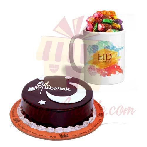 Sweet Eid Mug With Eid Cake