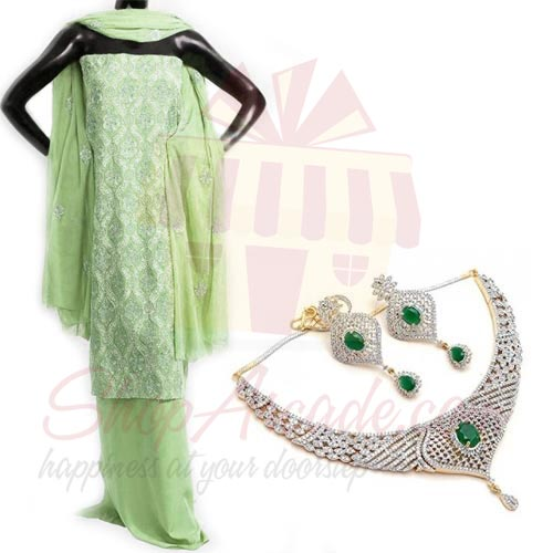 Necklace Set With Suit