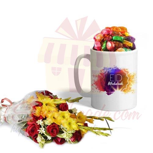 Eid Choco Mug With Flowers
