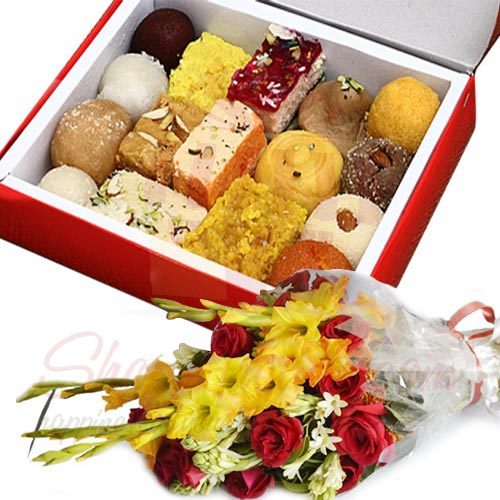 Mithai And Flowers
