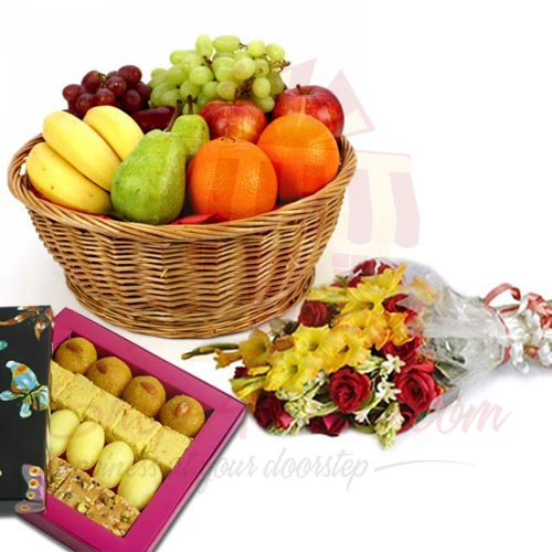 10Kg Fruits Flowers And Mithai