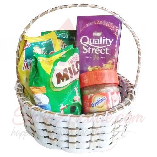 Chocolates n Drink Basket
