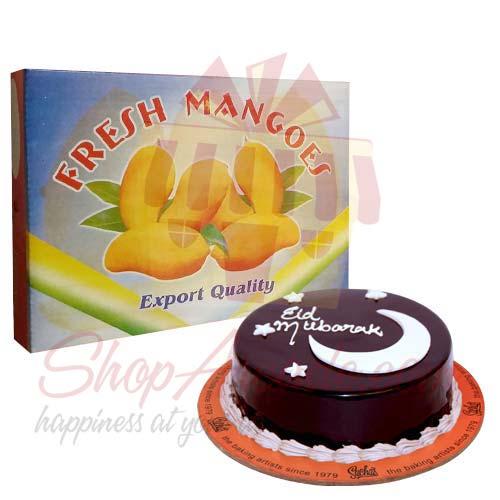 Mangoes With Eid Cake