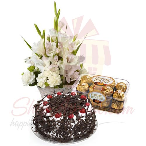 Cakes Chocs And Flowers