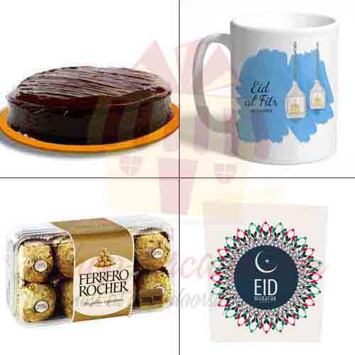 Card Chocolates Mug Cake For Eid