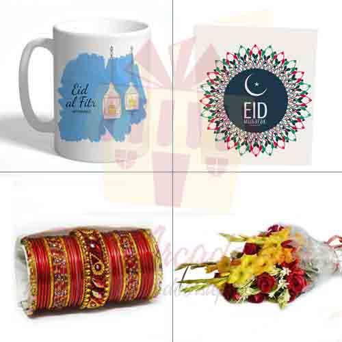 Mug Card Flower Choori For Eid