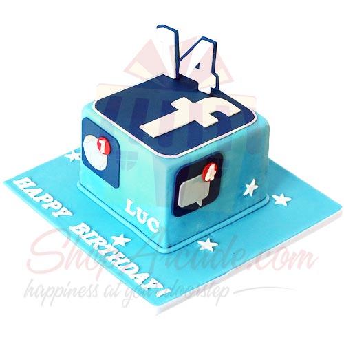 Facebook Theme Cake 5lbs Buy Now