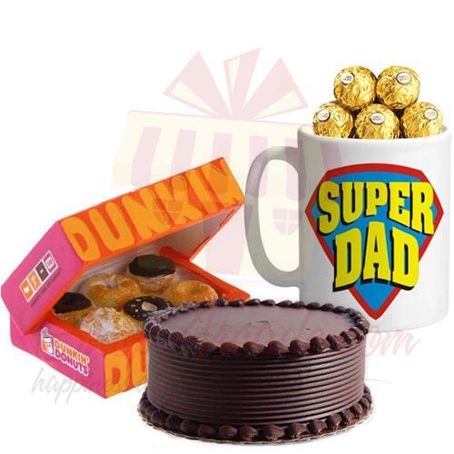 Choco Mug With Cake and Donuts