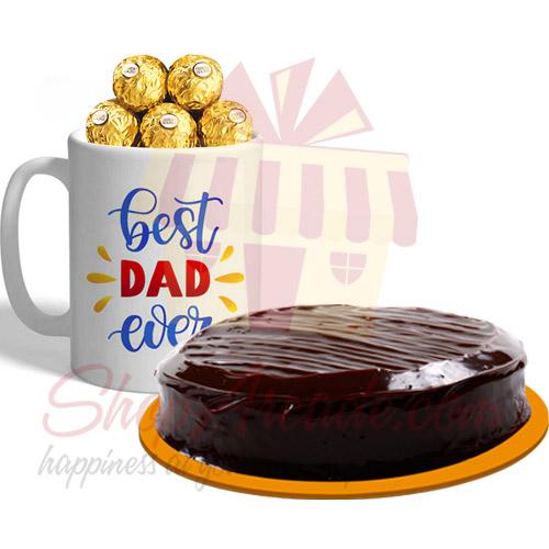 Ferrero Dad Mug With Cake