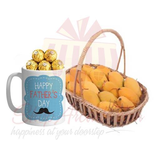 Mangoes With Choco Mug.