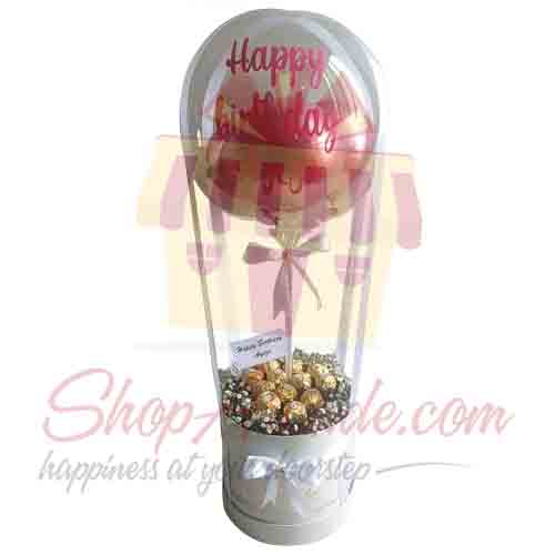 Bday Balloon With Ferrero Box