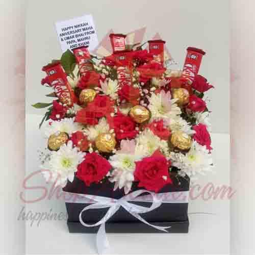 Flowers And Chocolate Box