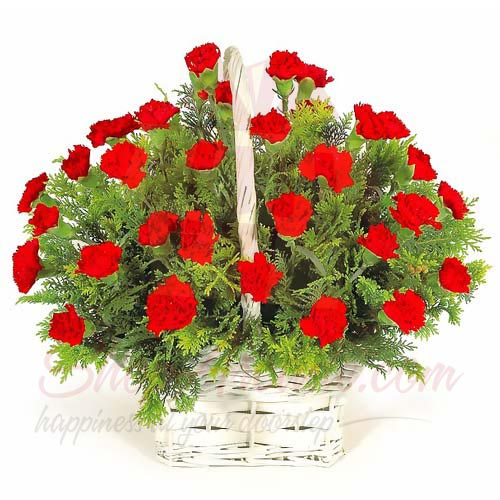Send Flowers Blooms In A Basket Gift To Pakistan Item 4479