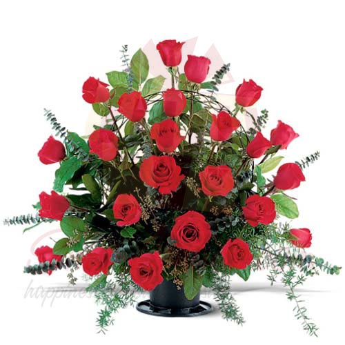 2 Dozen Roses In A Basket
