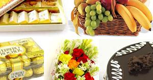Flowers Sweets Cake Fruits Choc
