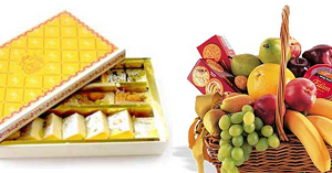 Mithai Sweets Fruit Basket