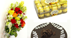 Flowers Cake Chocolates