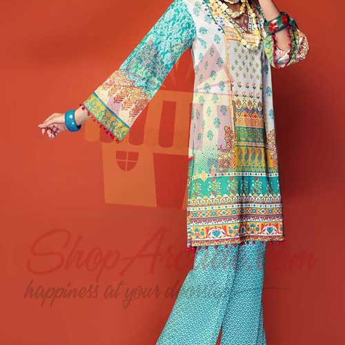 Turqouise 2 Pc TL-144 A By Gul Ahmed