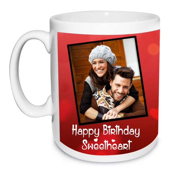 Happy Birthday SweetHeart Photo Mug