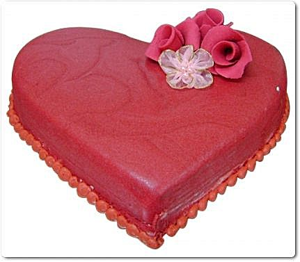 Heart Shape Cake 3lbs From Tehzeeb Bakers