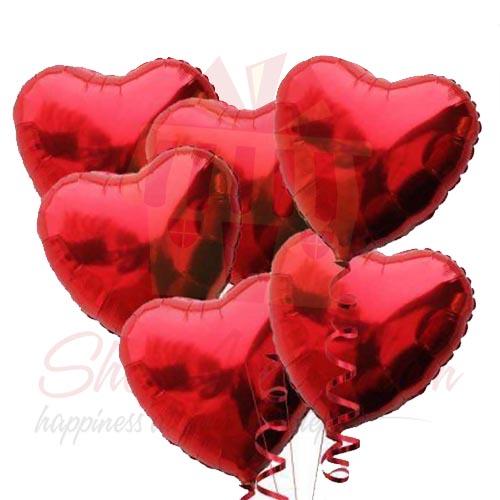 Heart Ballons (6 Pcs)