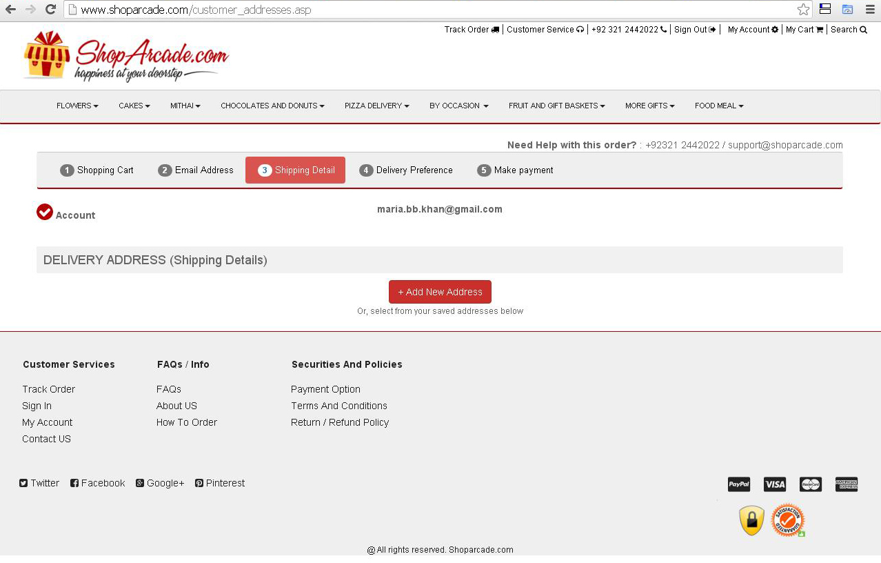Add Shipping Address