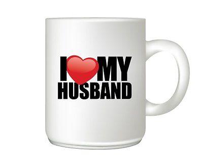 I love My Husband Heart Mug