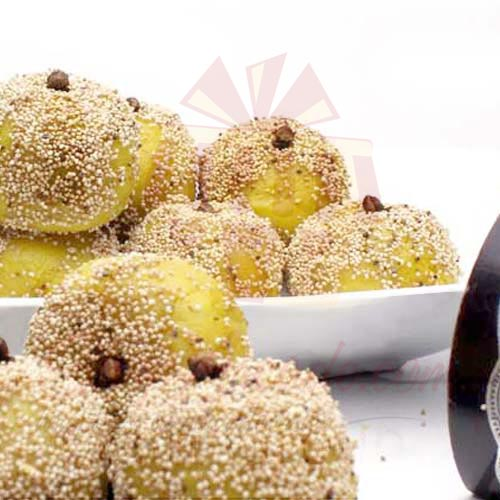 1Kg Kaju Mithai With Sesame Coating