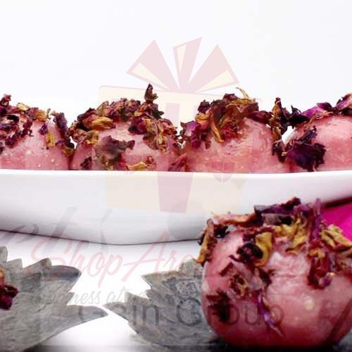 1Kg Rose Flavour Kaju Katli