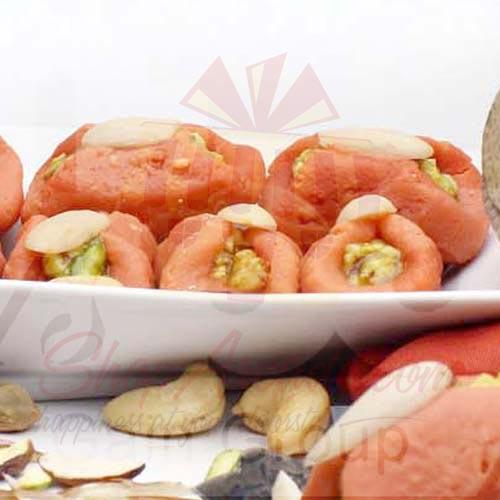 1Kg Orange Kaju Katli Dry Fruits Filling