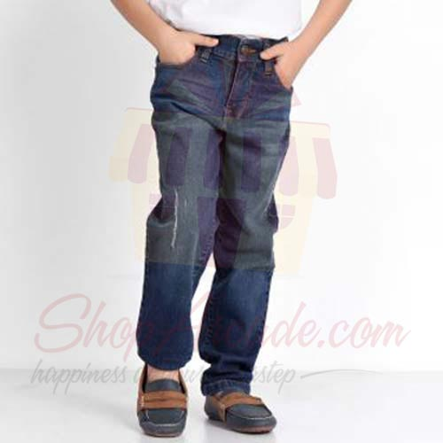 Blue Regular Fit Jeans By (Khaadi)