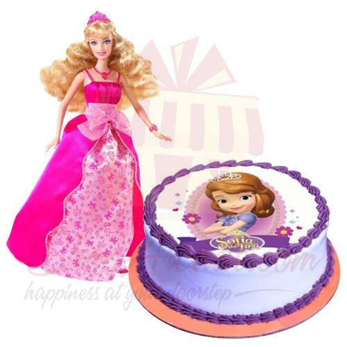 Sofia Cake With Barbie