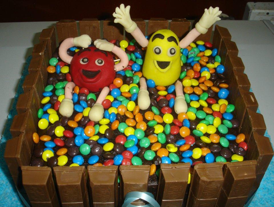 Kit Kat Chunky and MnMs Chocolate Cake 10 lbs