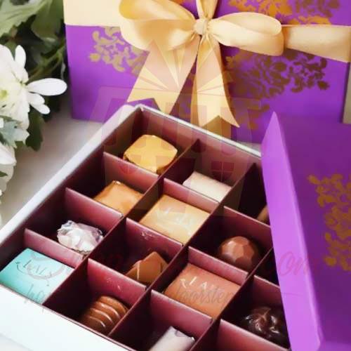 Purple Motif Box (16 Pcs) - Lals