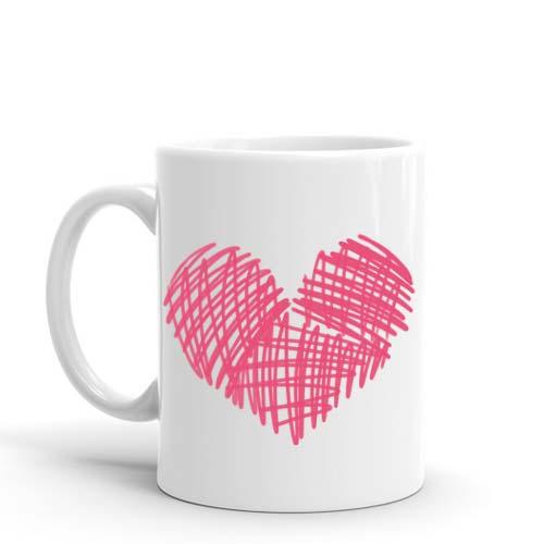 Marker Heart Mug