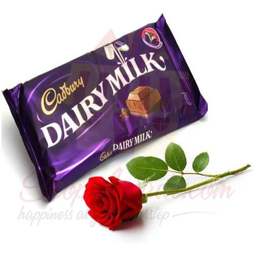Cadbury With Single Rose