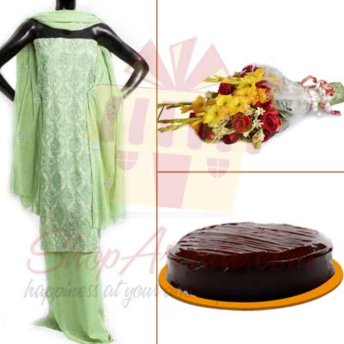 Suit Flowers Cake Fro Her