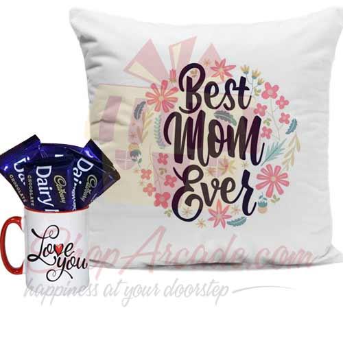 Choc Love Mug With Cushion For Mom