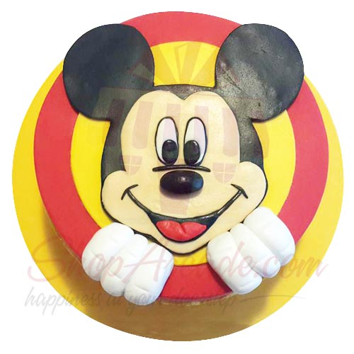 Mickey Mouse Face Cake 5lbs