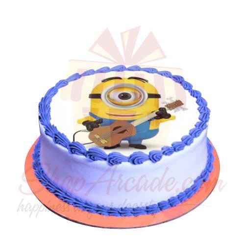 Guitarist Minion Cake 2lbs-Sachas