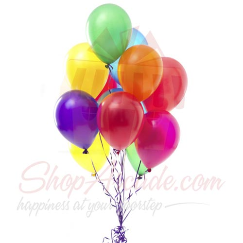 Colourful Balloons (12 Pcs)