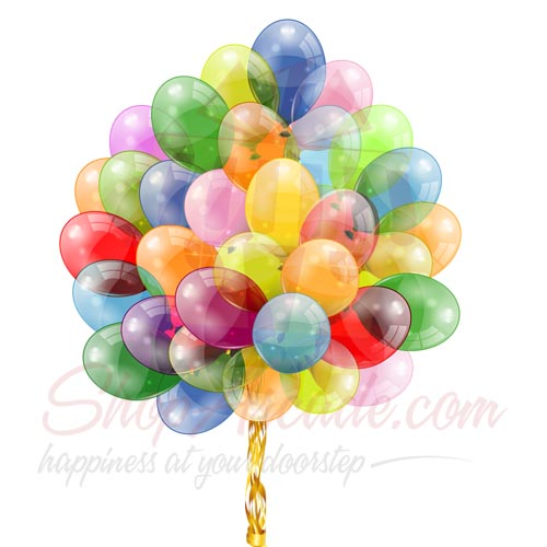 Colourful Balloons (50 Pcs)