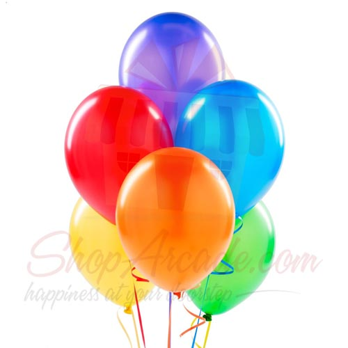 Colourful Balloons (6 Pcs)