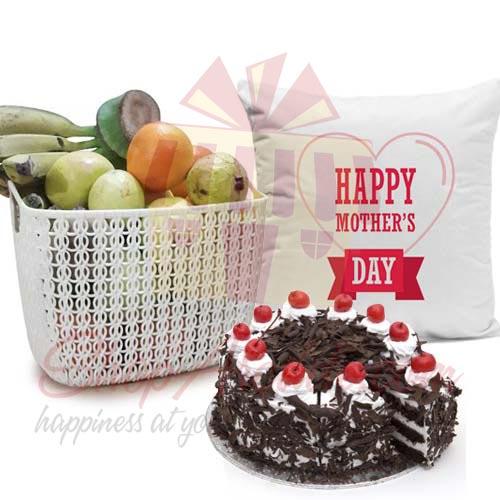 Fruits Cushion Cake For Ammi