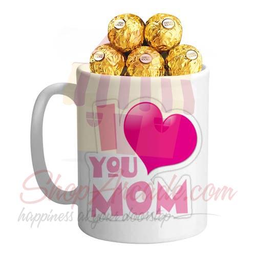 Love You Mom Mug With Chocs