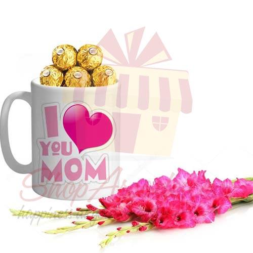 Glads And Choc Mug For Mom