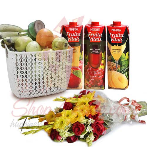 Juices Fruits And Flowers
