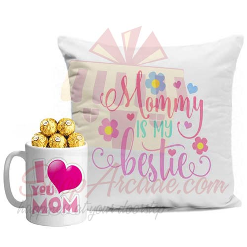 Cushion With Choc Mug For Ammi