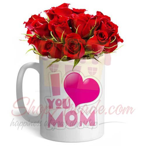 Roses In A Mom Mug