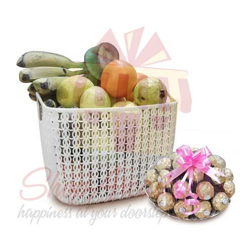 Fruits With Rocher Tray